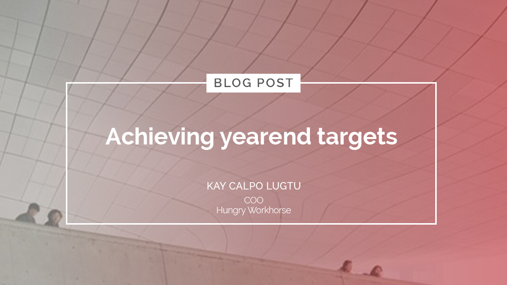 Achieving yearend targets